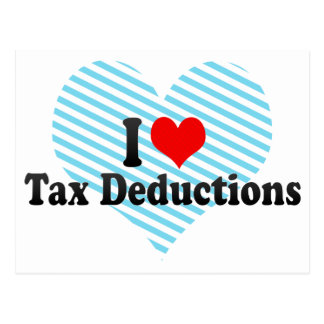 I Love Tax Deductions Post Cards