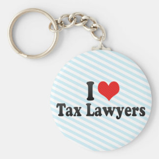 I Love Tax Lawyers Basic Round Button Key Ring
