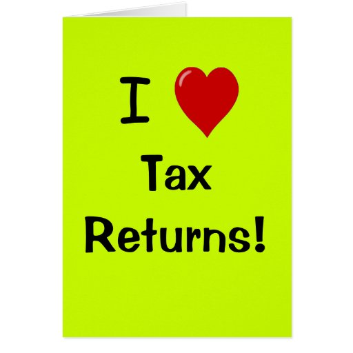 I Love Tax Returns - Personalisable Thank You Card