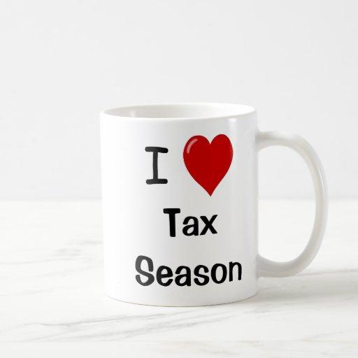 I Love Tax Season - I Heart Tax Season Coffee Mug