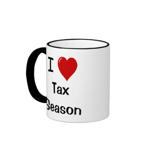 I Love Tax Season - I Heart Tax Season Mugs
