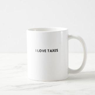 I LOVE TAXES BASIC WHITE MUG