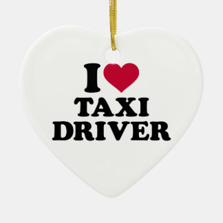 I love taxi driver ceramic heart decoration