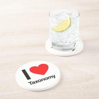 i love taxonomy beverage coasters