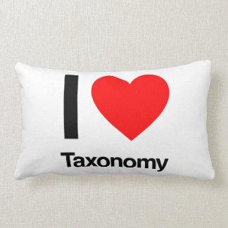 i love taxonomy throw pillows