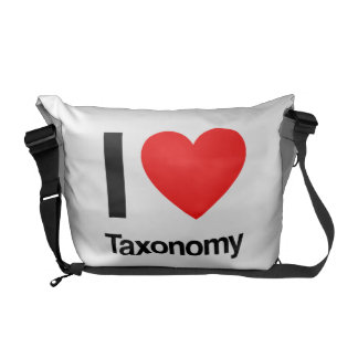 i love taxonomy courier bag
