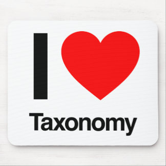 i love taxonomy mouse pad