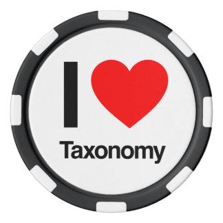 i love taxonomy poker chips set