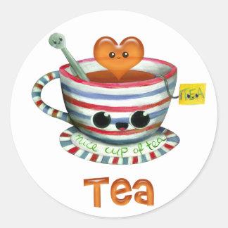 I love Tea Classic Round Sticker