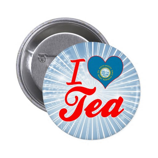 I Love Tea, South Dakota Button