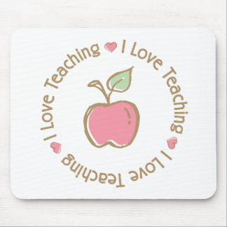 I Love Teaching Apple Mouse Pad