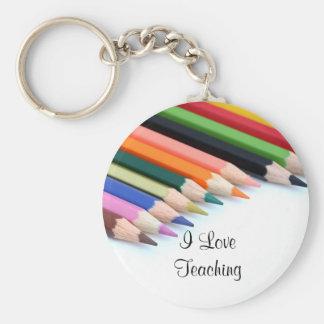 I Love Teaching Key Ring