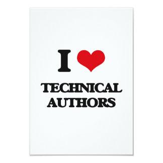 "I love Technical Authors 3.5"" X 5"" Invitation Card"