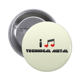 I Love Technical Metal 6 Cm Round Badge