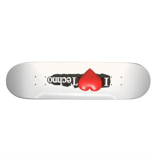 I love Techno #2 Skateboard