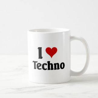 I love techno coffee mug