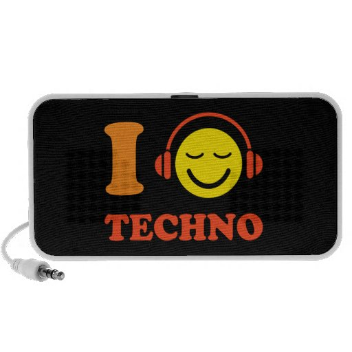 I love techno music smiley Doodle speakers