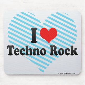 I Love Techno Rock Mouse Pads