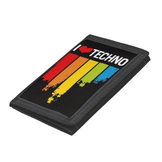 I love techno trifold wallet