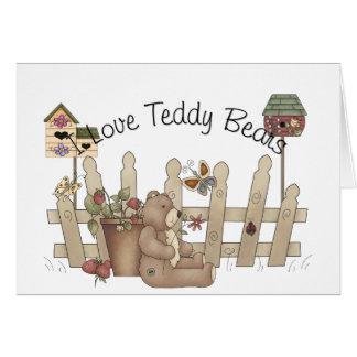 I Love Teddy Bears Spring Thyme Card