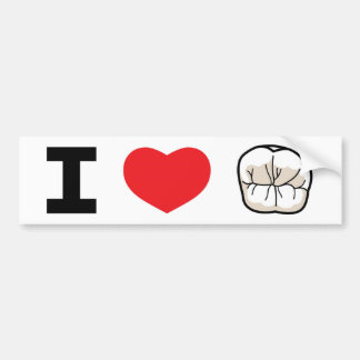"""I LOVE TEETH"" Bumper Sticker"
