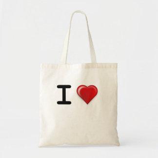 I LOVE Template Tote Bag
