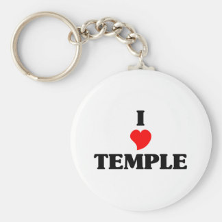 I love Temple City Key Ring