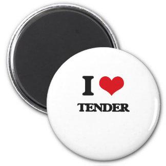 I love Tender 2 Inch Round Magnet