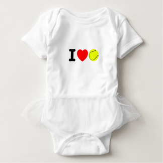 I Love Tennis Baby Bodysuit