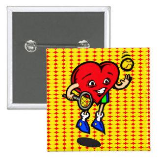 I Love Tennis 15 Cm Square Badge
