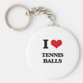 I love Tennis Balls Key Ring