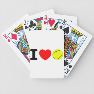 I Love Tennis Bicycle Playing Cards