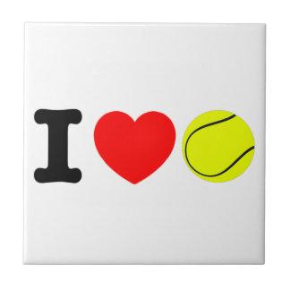 I Love Tennis Ceramic Tile