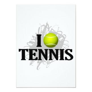 I Love Tennis Emblem 13 Cm X 18 Cm Invitation Card