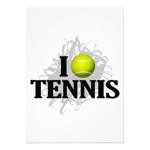 I Love Tennis Emblem Invites
