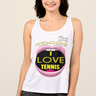 I love Tennis Performance Tank top