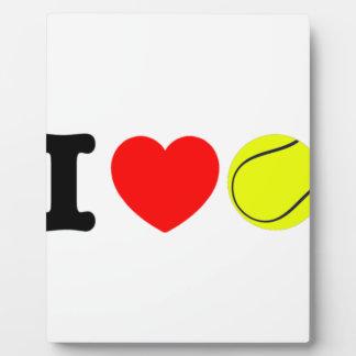 I Love Tennis Plaque