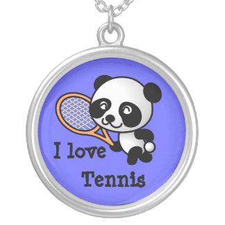 I love Tennis Round Pendant Necklace