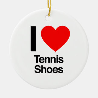i love tennis shoes ceramic ornament