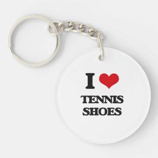 I love Tennis Shoes Single-Sided Round Acrylic Keychain