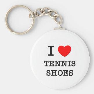 I Love Tennis Shoes Key Chains