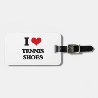 I love Tennis Shoes Luggage Tag
