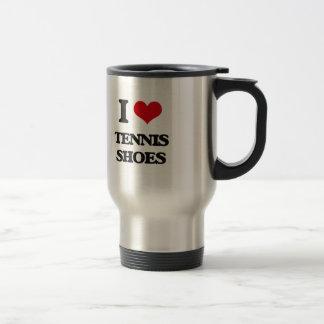 I love Tennis Shoes 15 Oz Stainless Steel Travel Mug