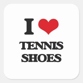 I love Tennis Shoes Square Sticker