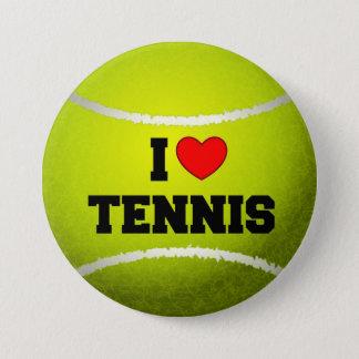I Love Tennis - tennis ball - grass 7.5 Cm Round Badge