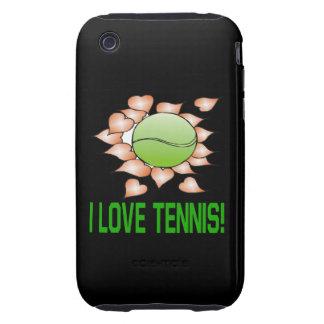 I Love Tennis Tough iPhone 3 Cover