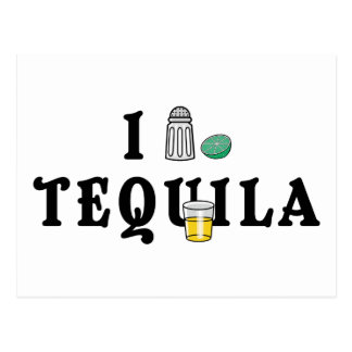 I Love Tequila Postcard