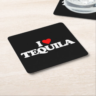 I LOVE TEQUILA SQUARE PAPER COASTER