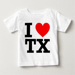 I Love Texas Design Baby T-Shirt