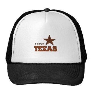 I LOVE TEXAS MESH HATS